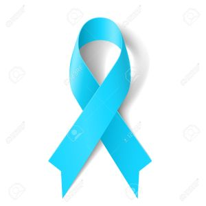 Light blue ribbon as symbol of prostate cancer awareness, Graves Disease