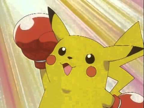 Pikachu with gloves